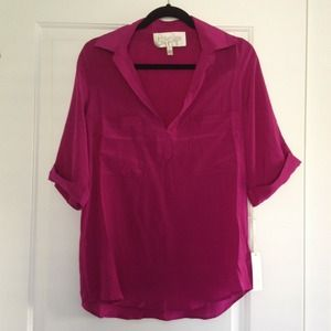 NWT Rory Beca Sz Small 100% Silk Blouse
