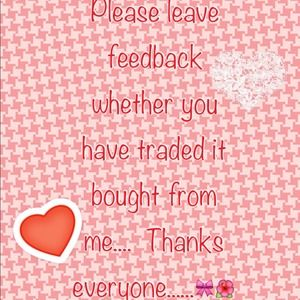 Accessories - Please leave feedback