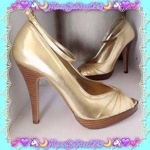 Delicious Shoes - 💖SALE🎉🍭Delicious Gold Pump👠PeepToe Heel🍭6.5💖