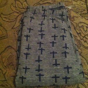 Pants - Grey cross leggings