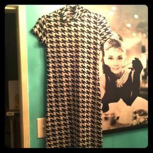 retro chic Dresses & Skirts - sexy spandex houndstooth dress size M