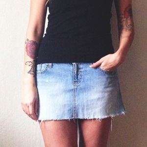 Abercrombie & Fitch Dresses & Skirts - Light Wash Denim Skirt