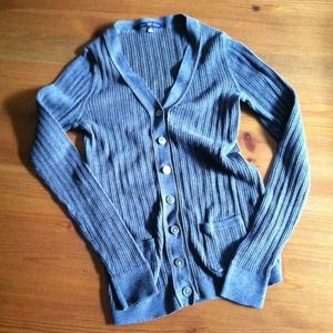 Gap ribbed v-neck cardigan