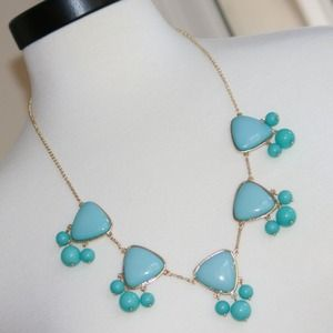 SOLDGold Plated Emma Grace Necklace,Blue Turquoise