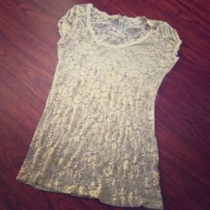 nude lace top
