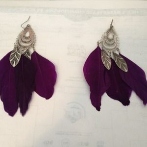 Feather earrings!! 