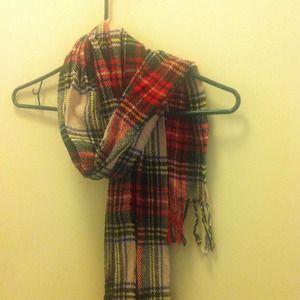 Accessories - Plaid wool scarf