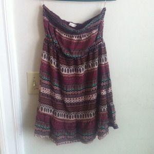 Dresses & Skirts - Cute pattern tube dress