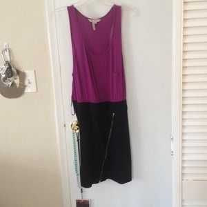 BCBGeneration purple and black dress. Size l