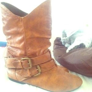 Shoes - Mid calf brown boots