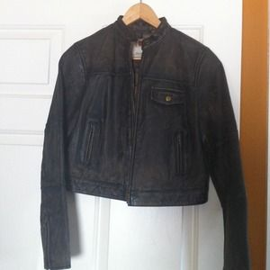 Leather brown Jacket Red from the gap Size S