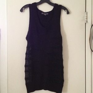 Black sleeveless sweater