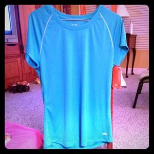 Workout Tee in Blue Goddess