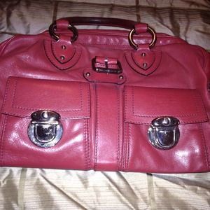 Authentic Marc Jacobs Deep Red Leather Bag.