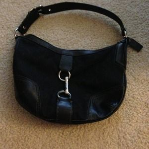 Coach medium black bucket handbag