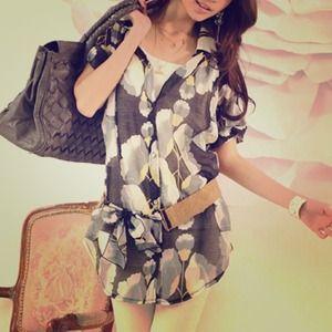 🔴SOLD🔴 Summer Casual Floral Chiffon w/o belt