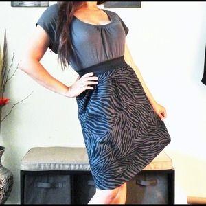 🔴SOLD🔴 Gray Wide Garter Dress
