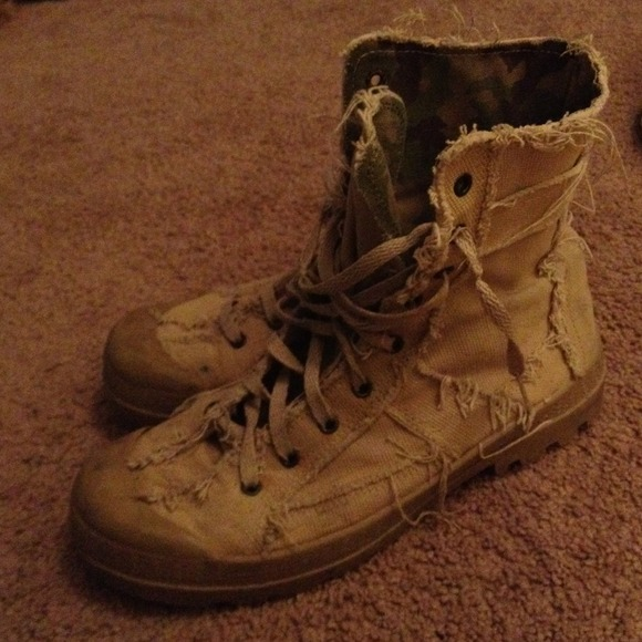 60% off Bakers Boots - Tan cloth combat boots from Dana's closet ...