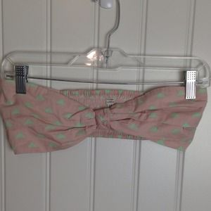 Tops - Pink and green bow bandeau