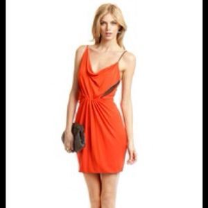 Cut25 by Yigal Azrouel Dresses & Skirts - NWT cut25 dress orange with mesh inserts