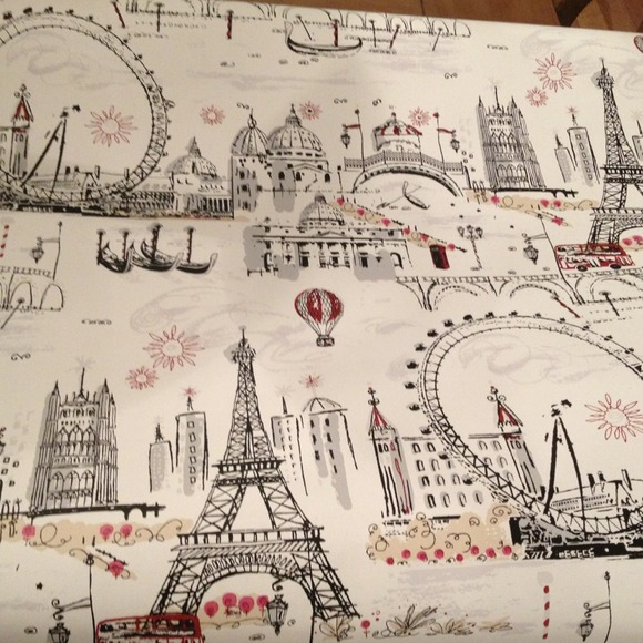 Anthropologie Wall Art Paris Wallpaper 80 Full Roll French Poshmark