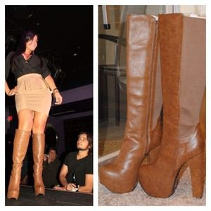 Brown tall boots BNWT
