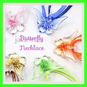 Butterfly 3D Flower necklace