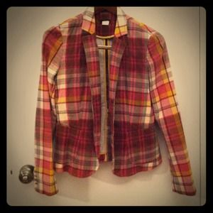 JCrew plaid jacket