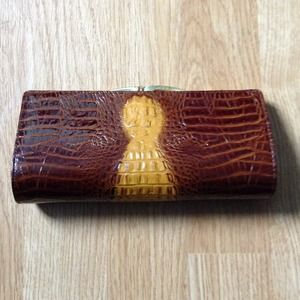 Vintage clutch made with real alligator