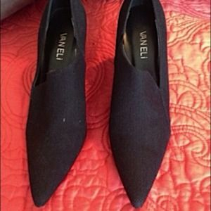 🎉🎉Host Pick 9/1🎉Van Eli black fabric heels 7N