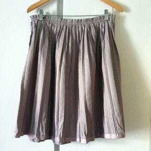 Gap gray pleated skirt