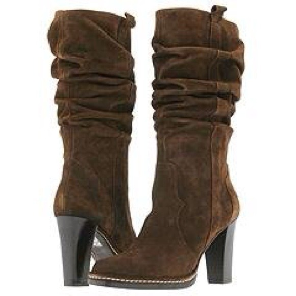 ef1094cab46 SOLD! Via Spiga 'Russo' Brown Suede Slouch Boot