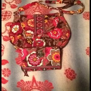 "Vera Bradley ""Saddle Up!"" bag with matching wallet"