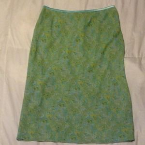 Hillard and Hanson Dresses & Skirts - Light green and teal skirt!