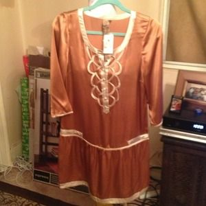 Copper dress by Twelve a forever 21 exclusive