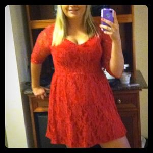 Gorgeous lace red dress