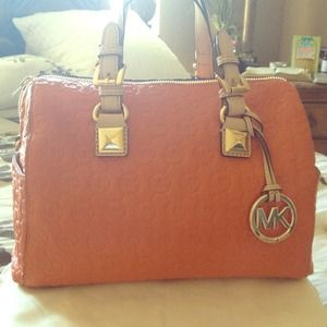 566d1c7f90d6 Michael Kors Bags - Used 1 time...this orange Michael Kors tote is