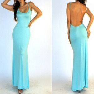 3582a4fd6d3 Ask for YOUR Size Dresses - 💙 Gorgeous Tiffany Blue backless long maxi  dress