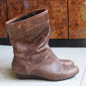 *LAST CHANCE* Brown leather ankle boot
