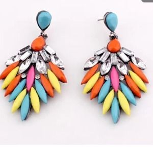 Gorgeous dangle earrings - multicolored