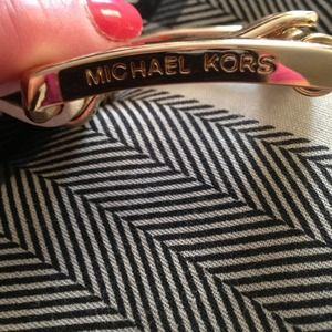 Cream & gold Belt Michael Kors