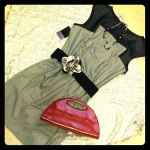 Zara Basic black and white dress size XL