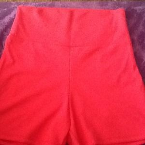Pants - NWOT high waist pink shorts