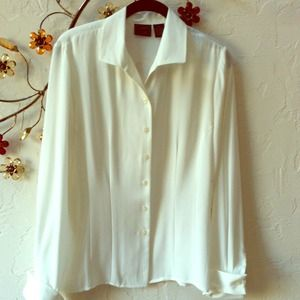 Laura Scott Tops - Off white  with cuff sleeves. Best offer