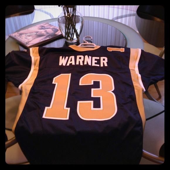 newest c2c70 c27d8 Authentic rams jersey Kurt Warner 13 reebok