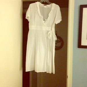 REDUCED: J.crew swiss-dot wrap dress