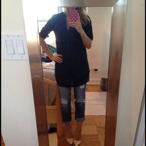 Zara NWT Navy Tunic Top