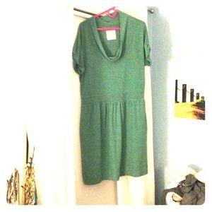 Light teal short sleeve dress from Anthro