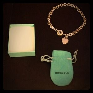 Authentic Tiffany and Co Heart Tag Toggle Necklace