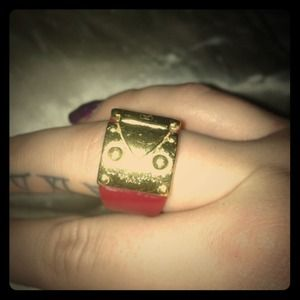 Reduced!! LOUIS VUITTON SEXY LOCK ME RED RING!! LV